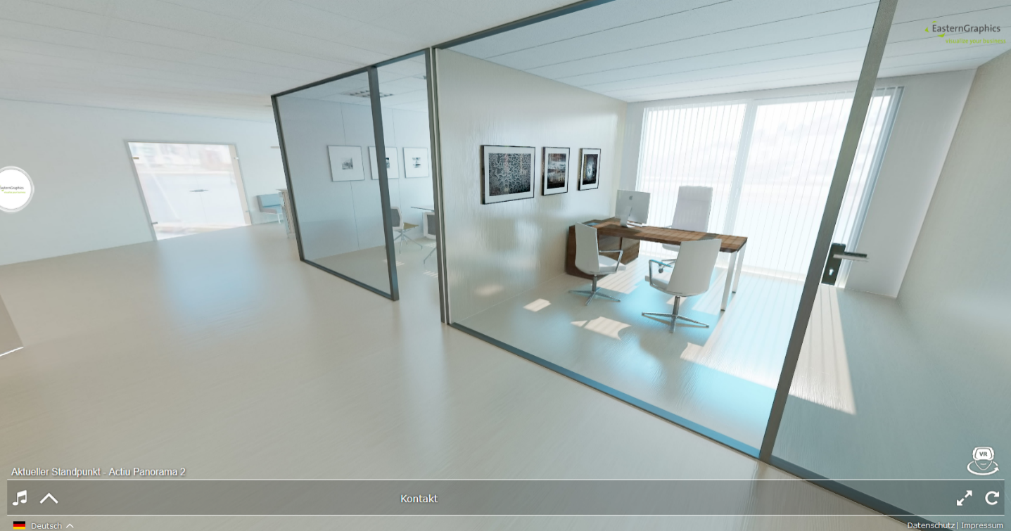 Step into the Virtual Reality in these renderings from Actiu.