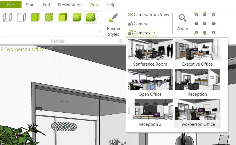 Quick Pick: Narrative Cameras in pCon.planner room planning presentation pCon.planner