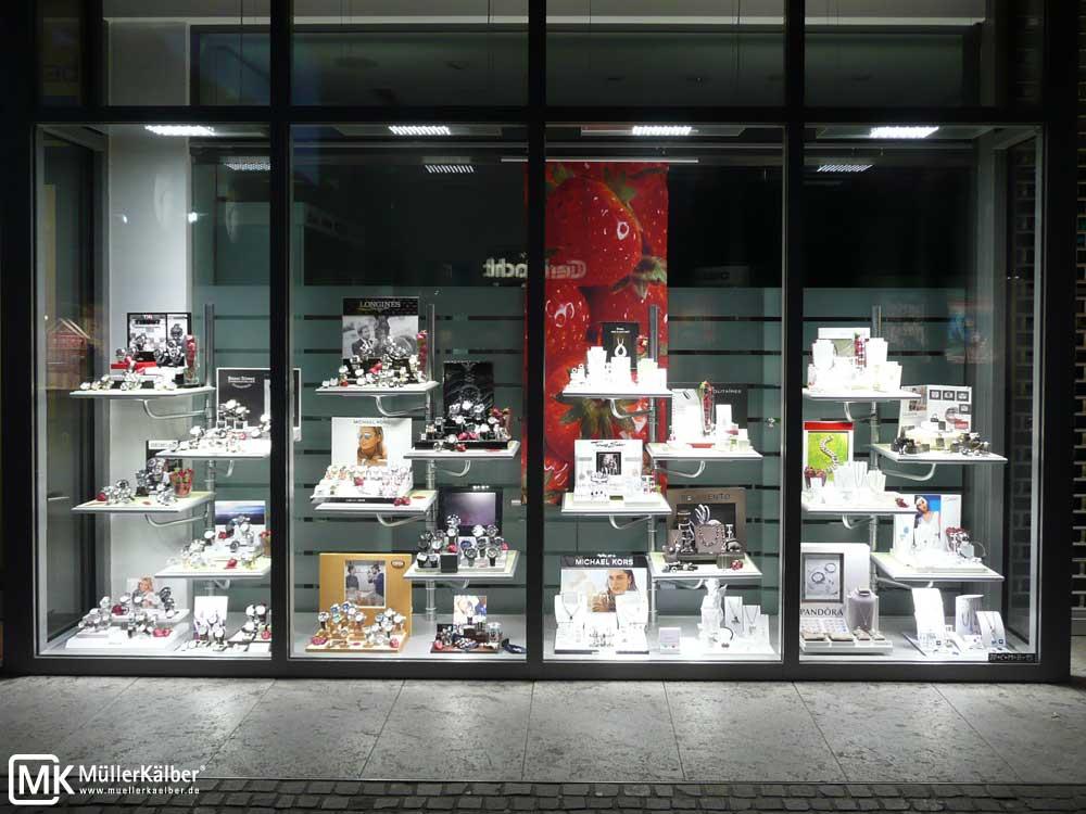 Watchmaker Store Window - focus on information