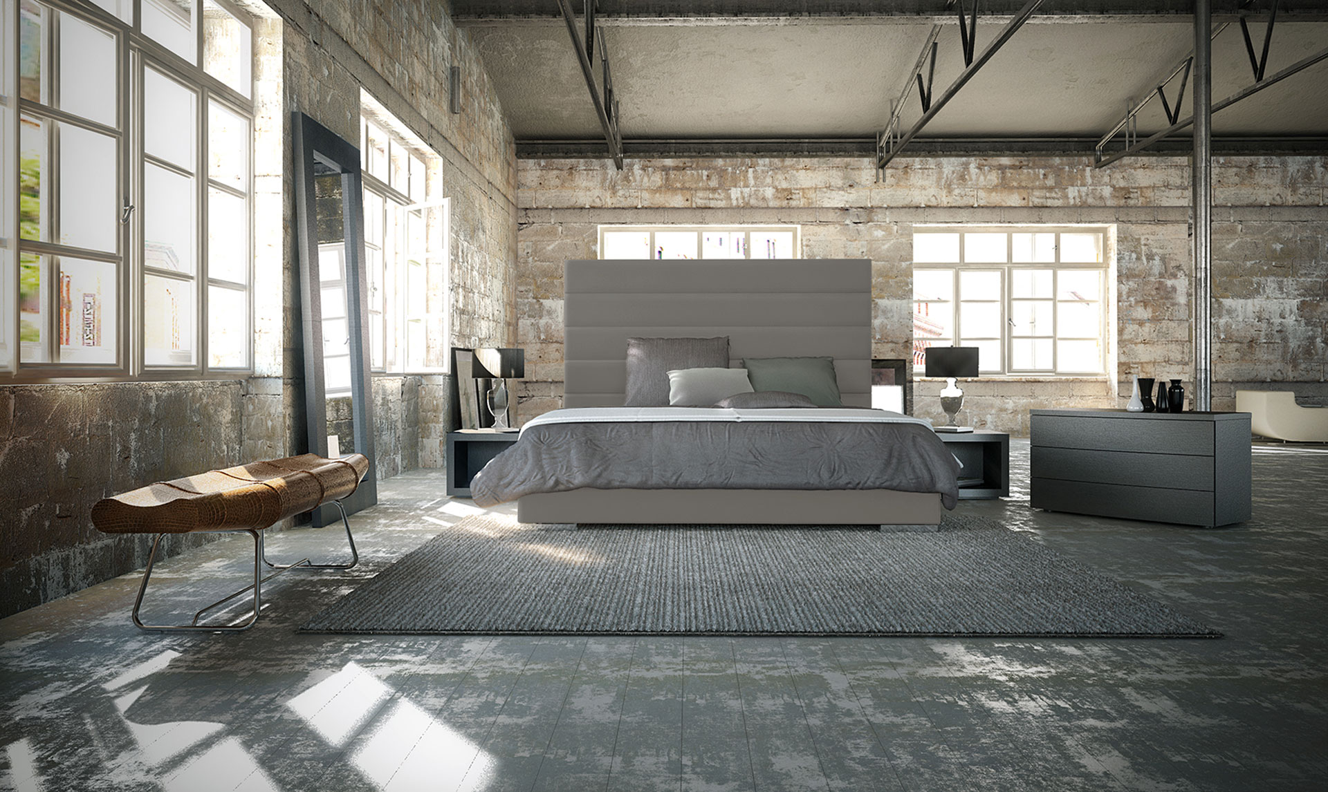 Industrial Chic Living room planning pCon.planner interior design