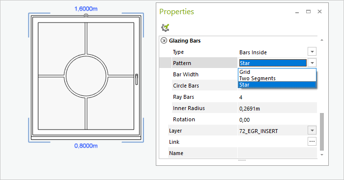 pCon.planner 8.1   New options for architecture elements windows release pCon.planner doors Angles