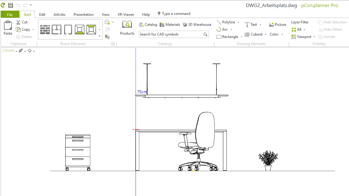 pCon.planner: Place objects accurately to size and pick heights Object placement help coordinate system