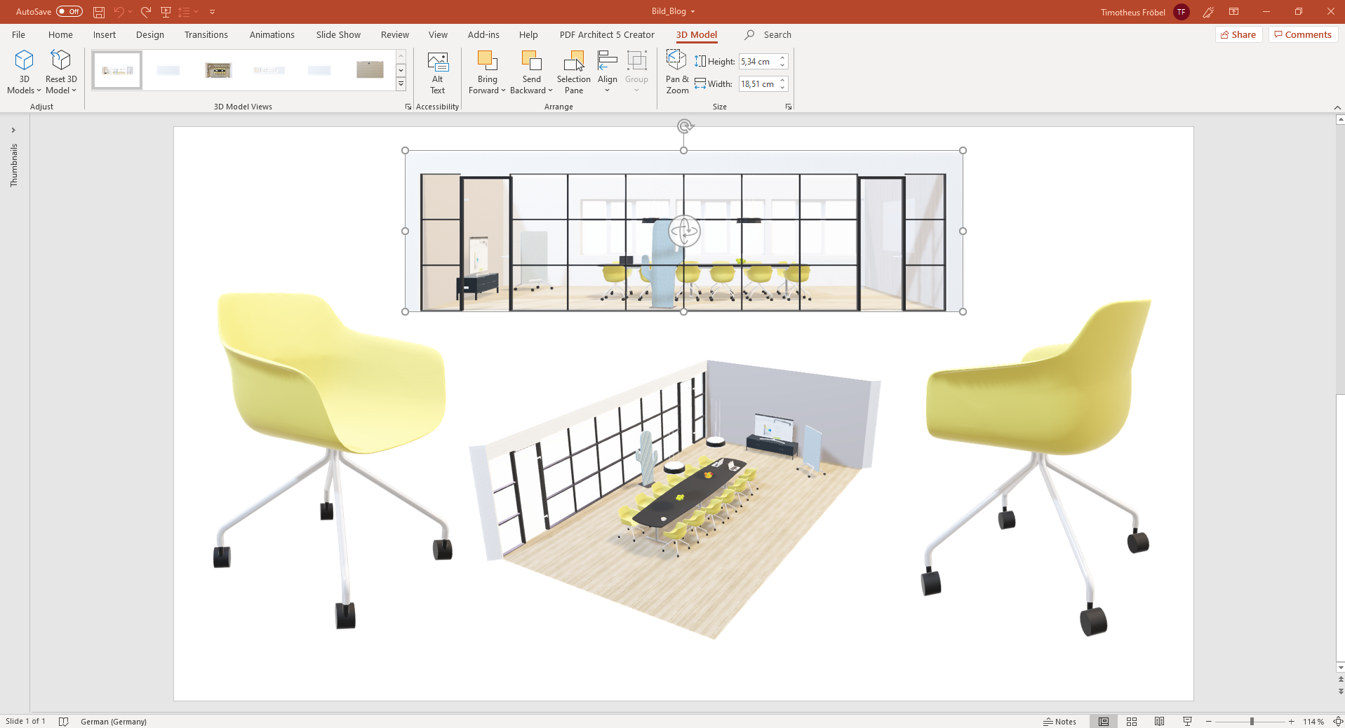 pCon.planner 8.2 – Add 3D content to your PowerPoint presentations PowerPoint pCon.planner 8.2 3D models