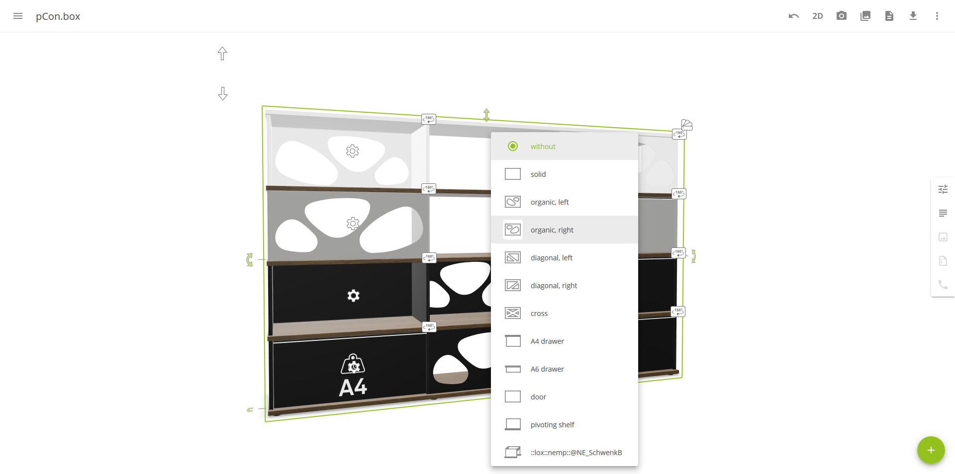 Configuration of LO Next in the pCon.box