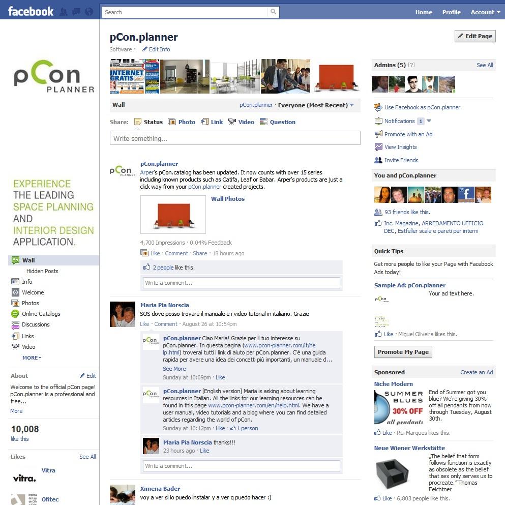Más de 10.000 fans de pCon.planner en Facebook!