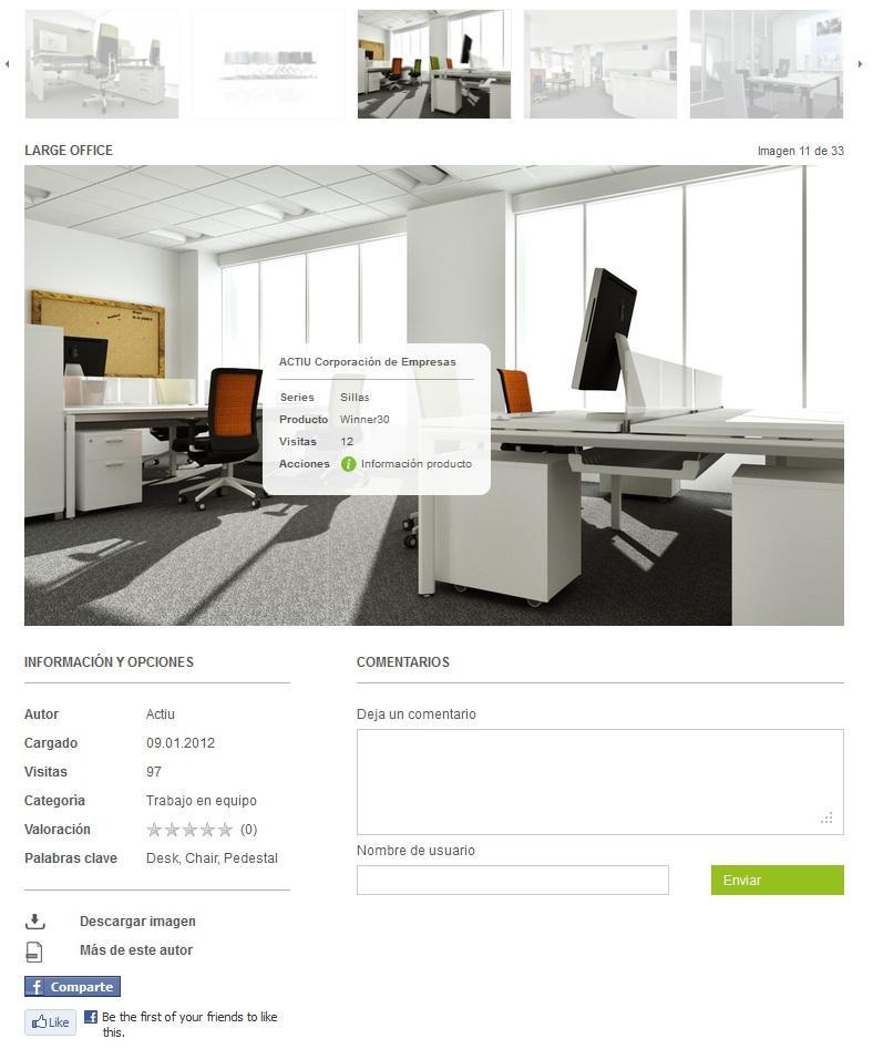 Después de seleccionar una imagen puedes mover el ratón por encima. Si pasas en cualquier artículo comercial verás una pequeña etiqueta con un resumen del artículo. Al hacer clic verás más información - fabricante, serie y detalles del producto.