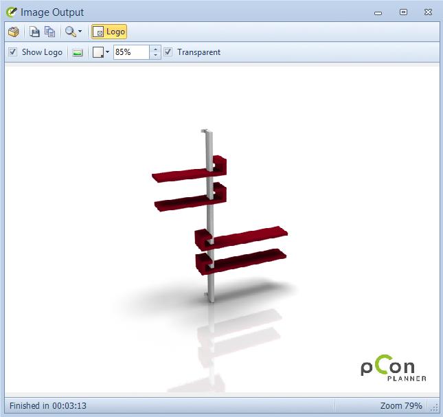 pCon.planner 6.5 - Logo en el render