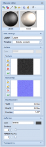 pCon.planner 6.5 - Editor materiales