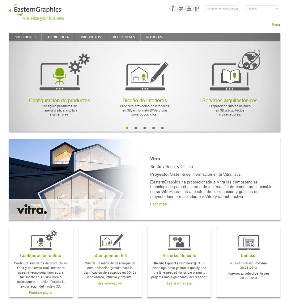 Nuevo sitio web EasternGraphics