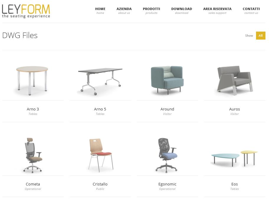 Productos 3D de Leyform en pCon.catalog sillas pCon Leyform dwg 3D