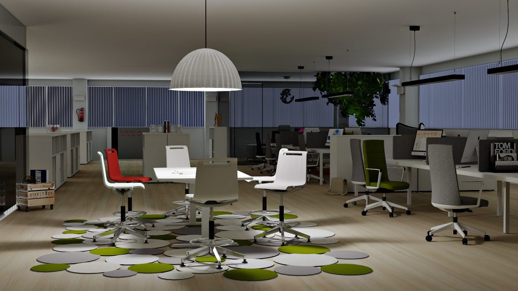 Actiu da un impulso a los renderizados con pCon renderizado pCon.planner 7.3 OSPRay iluminación Actiu