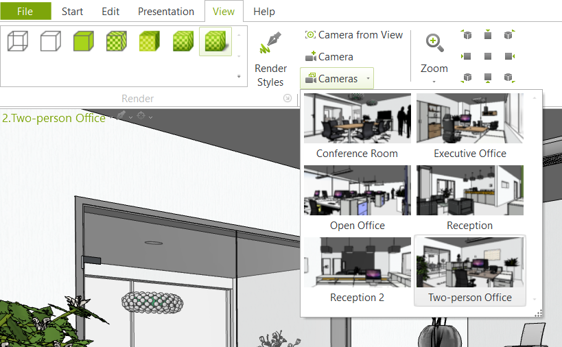 Cámaras narrativas en pCon.planner presentación pCon.planner 3D