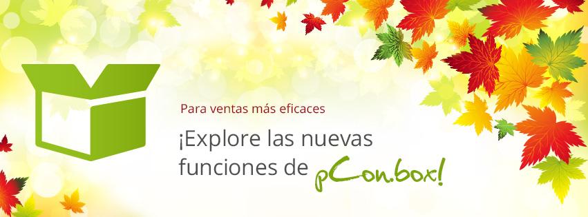 Actualización de pCon.box! La app lleva el diseño al punto de venta ventas pCon.box actualización