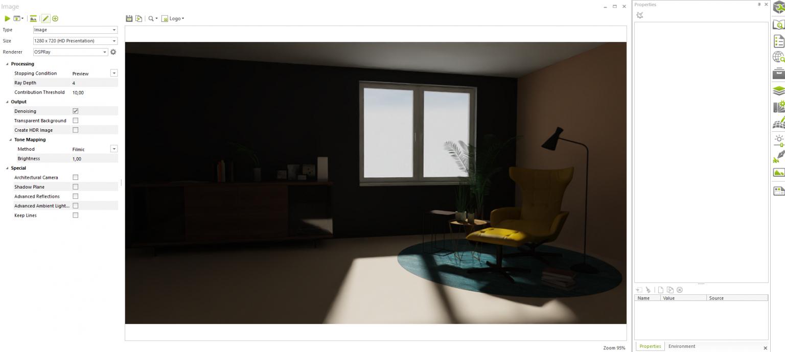 Luz Direccional en pCon.planner