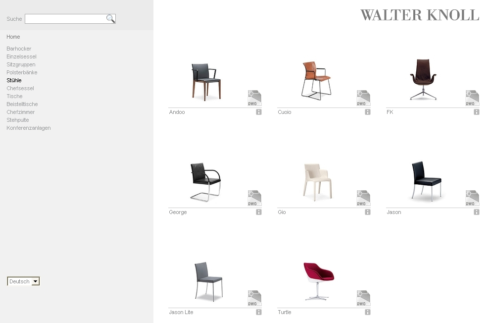 Walter knoll sur pcon blog for Catalogue mobilier design