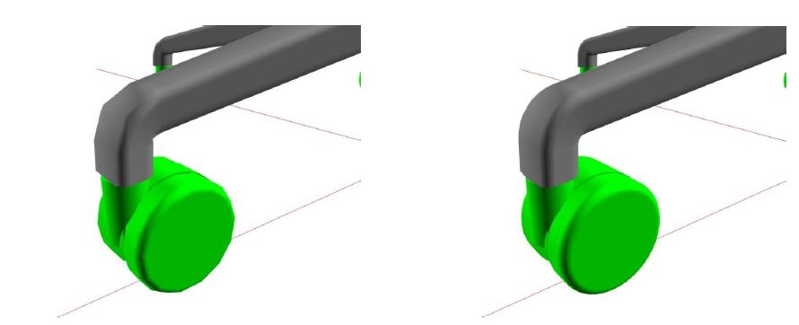 Controllo della qualità di visualizzazione dei solidi in pCon.planner