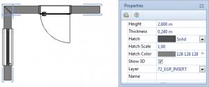Rappresentazione 2D delle pareti in pCon.planner