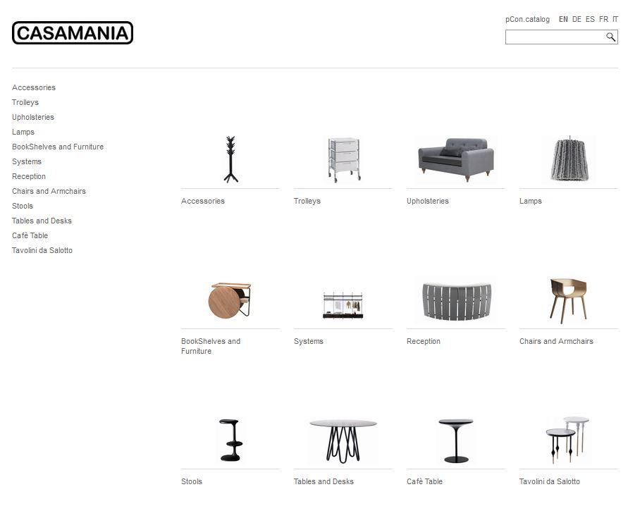 Casamania nel pCon.catalog
