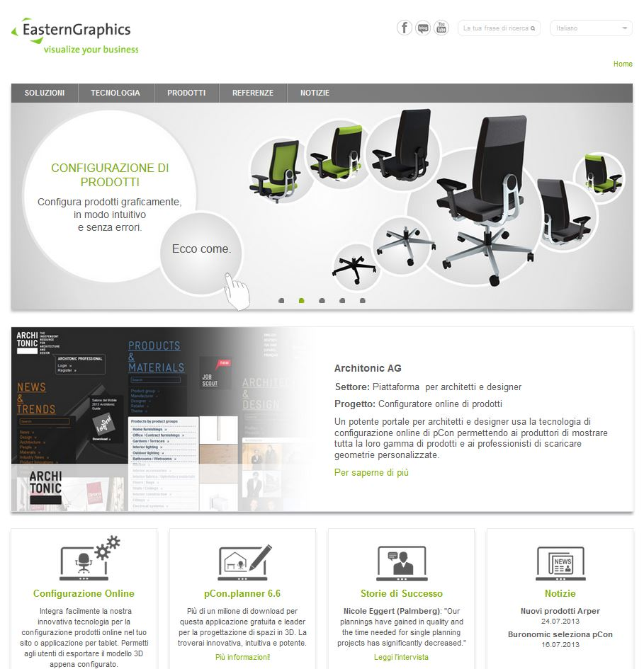Nuovo sito EasternGraphics