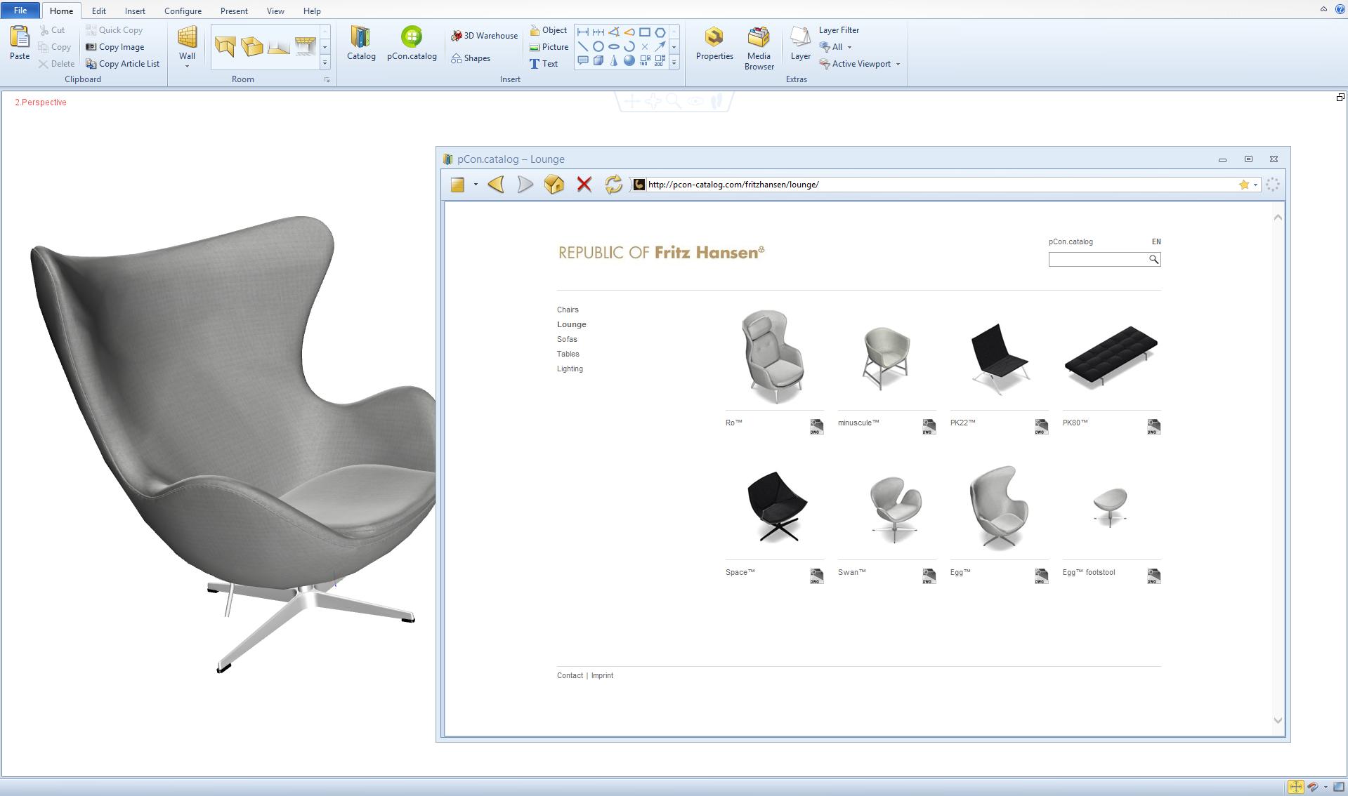 Fritz Hansen sul pCon.catalog | Blochi modelli DWG 3D - pCon - Il Blog