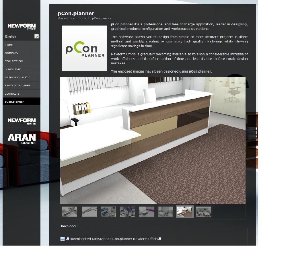 pCon.planner nel sito Newform Ufficio