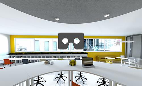 Presentazione interattiva dei prodotti: Realtà virtuale con Actiu pCon.planner panoramica Actiu