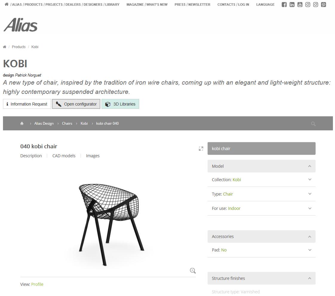 Online e offline con dati configurabili di Alias   ora disponibili in pCon.catalog pCon.catalog modelli CAD configuratore di prodotto Alias