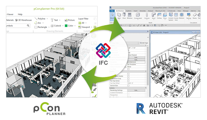 pCon.planner fall release will come with an IFC export function