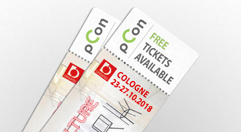 Biglietti gratuiti per ORGATEC forniti da pCon