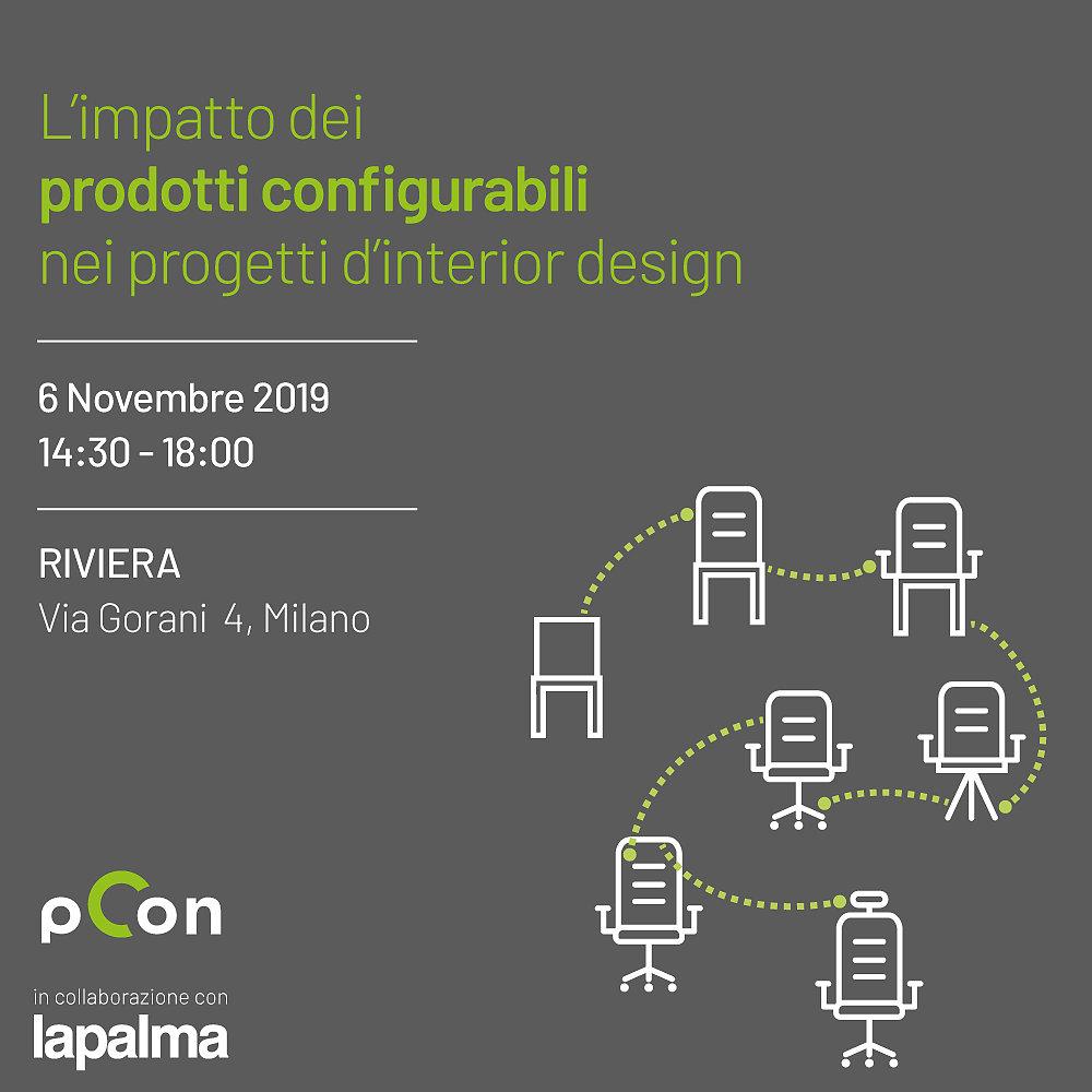 Seminario: L'impatto dei prodotti configurabili nei progetti d'interior design progettazione dinterni OFML formazione eventi dati configurabili