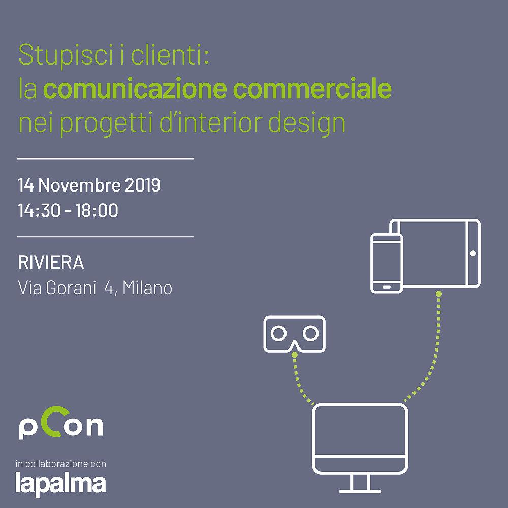 Seminario: Stupisci i clienti: la comunicazione commerciale nei progetti d'interior design realtà virtuale realtà aumentata interior design formazione eventi