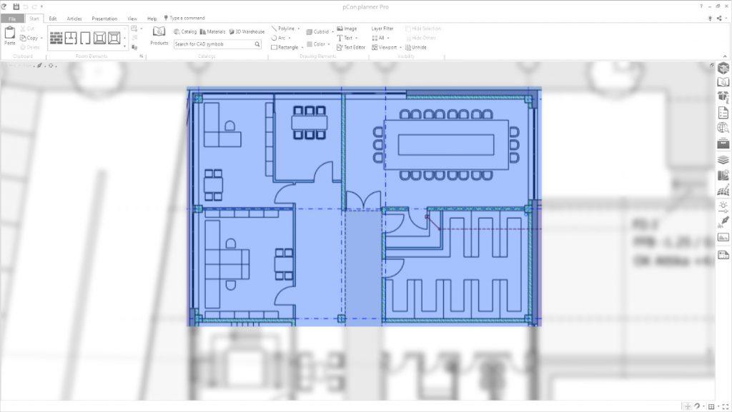 Ritaglia le planimetrie in pCon.planner 8.3