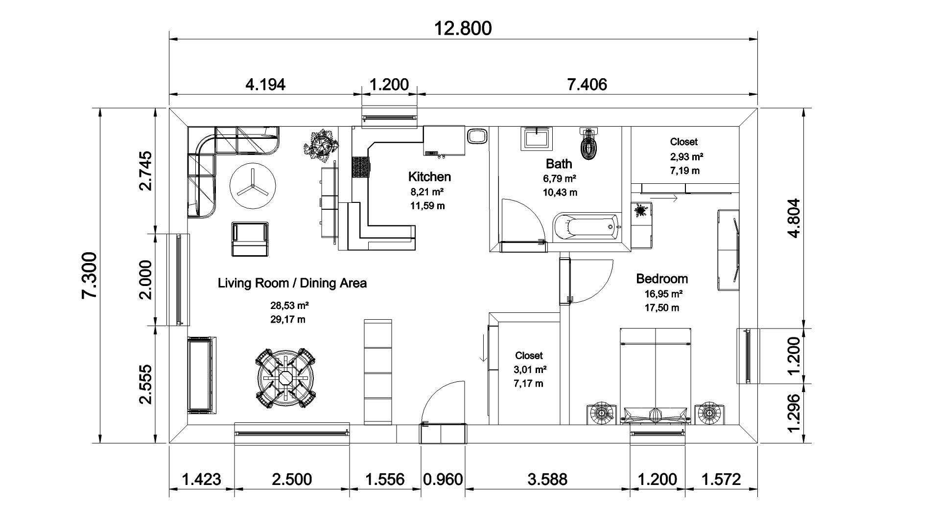 Planimetria in wireframe