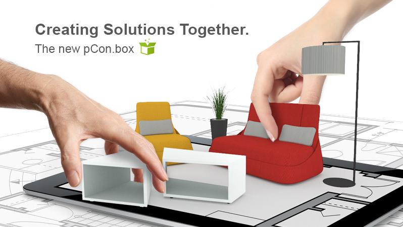 Effizient zusammenarbeiten mit der neuen pCon.box - Möbel auf Tablets und Smartphones planen