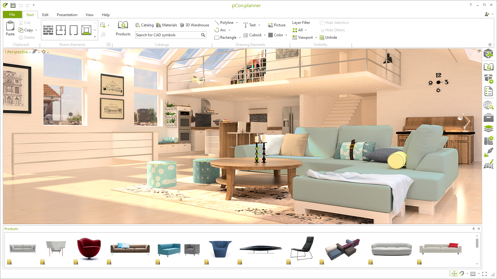 Create high quality 3D renderings with free tool rendering pCon.planner Batch rendering