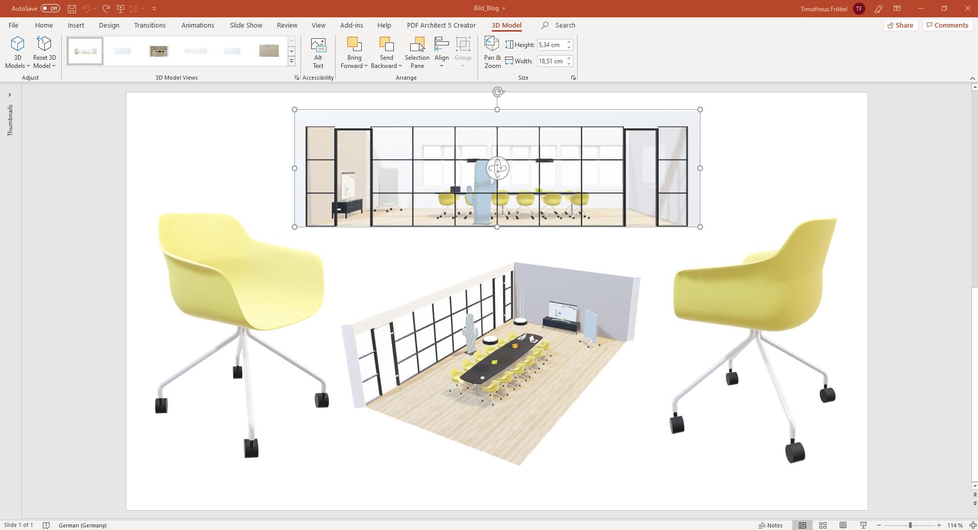 pCon.planner 8.2   Voeg 3D modellen toe aan uw Powerpoint presentaties