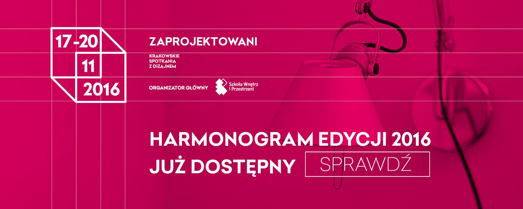 Zaprojektowani   |19.11 Kraków |   Wykład i Warsztaty pCon.planner