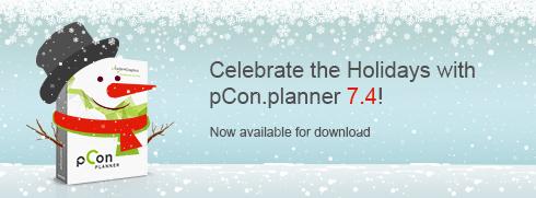 O Natal chegou mais cedo com o pCon.planner 7.4! pCon.planner 7.4