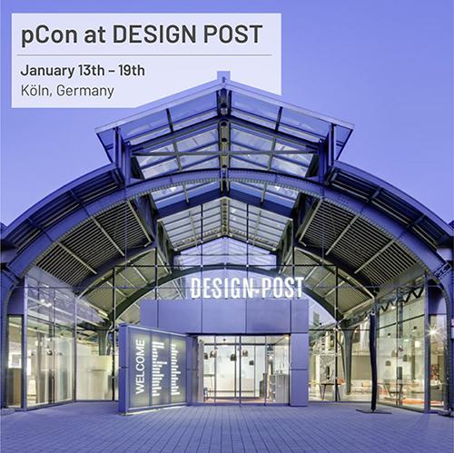 pCon na DESIGN POST durante o IMM Cologne
