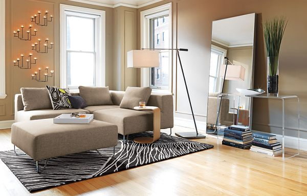 Sectional-seating-in-a-modern-living-room