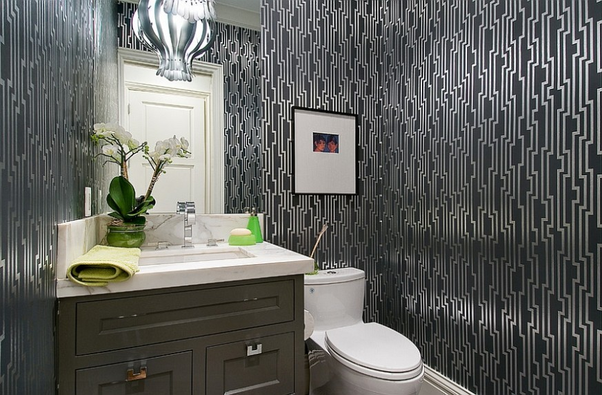 25-gorgeous-wallpaper-ideas-for-your-powder-room-modern-wallpaper-for-bathrooms