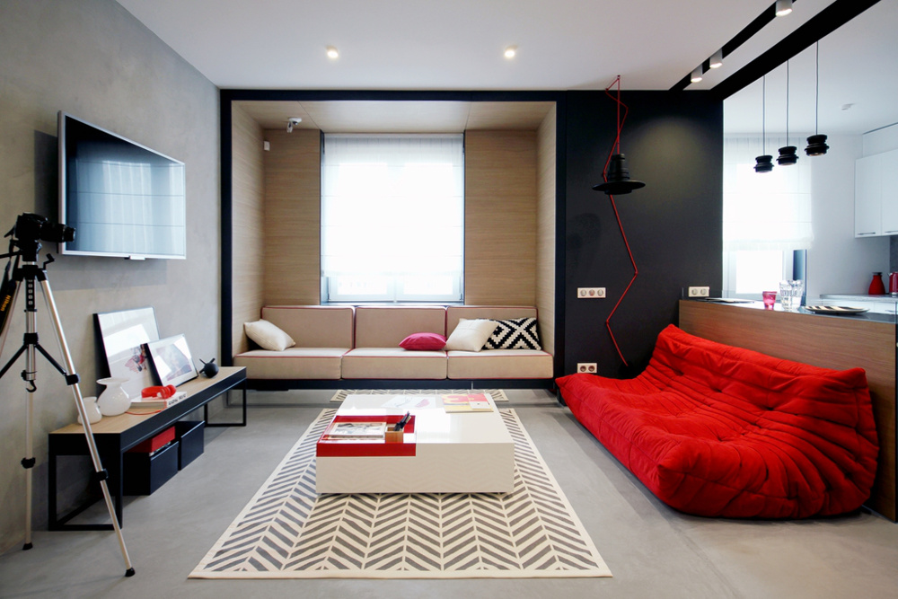 open-space-living-room-pops-of-red-togo-sofa