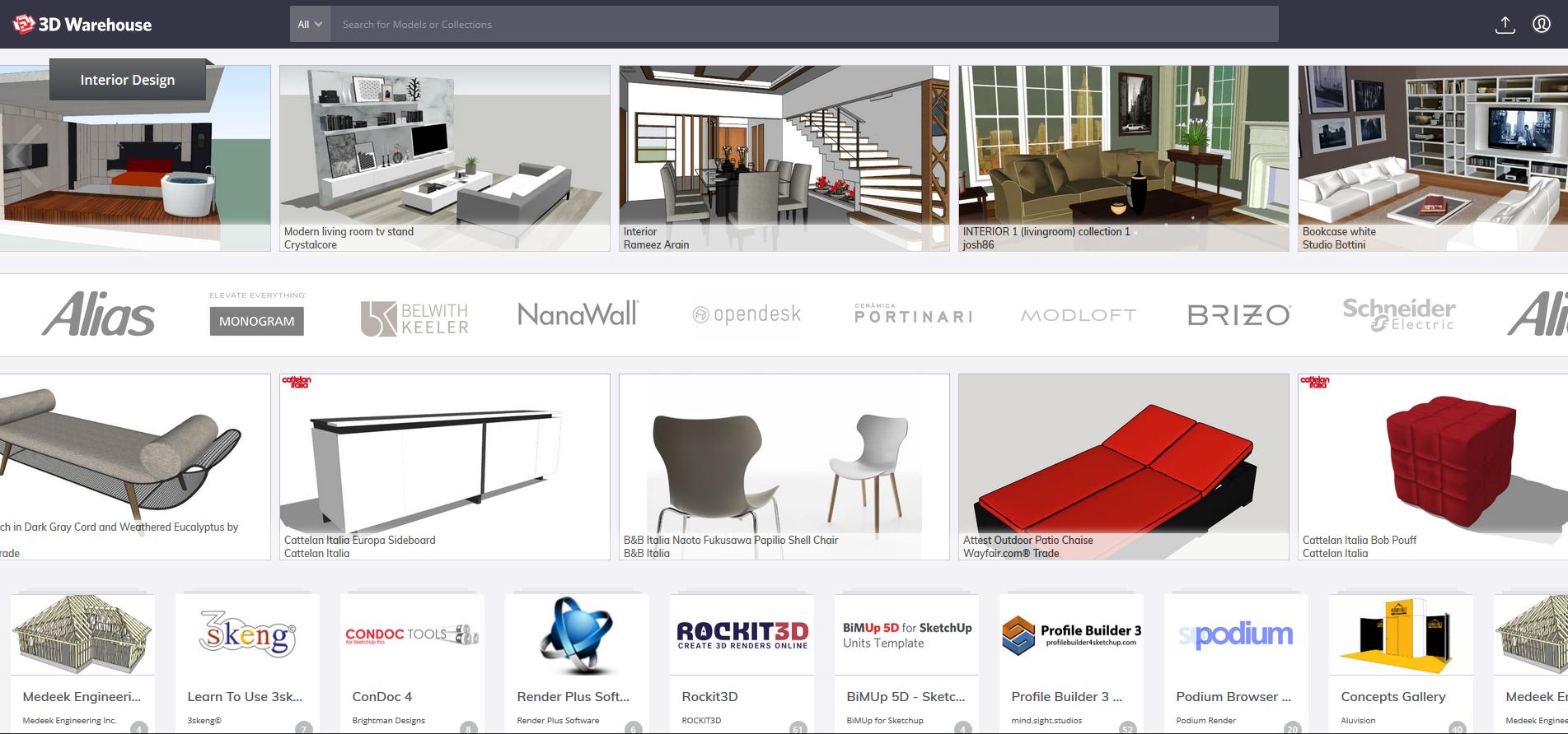 3D Warehouse – Trimble anunţă schimbări randare pCon.planner inspiratii design interior blog amenajari