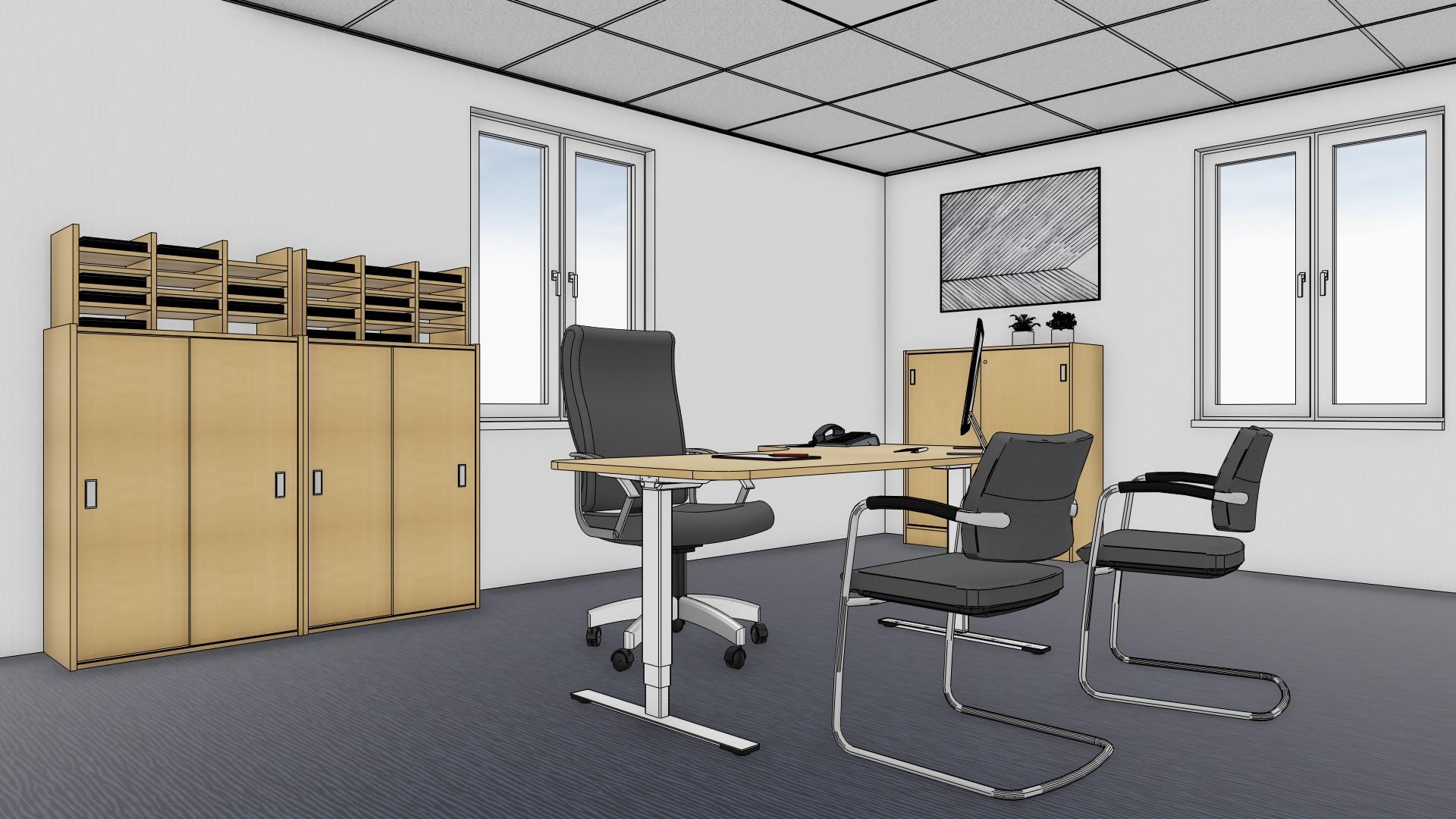 pCon.catalog: Mobilier de birou de la NKV proiect produse pCon.catalog modele CAD design interior