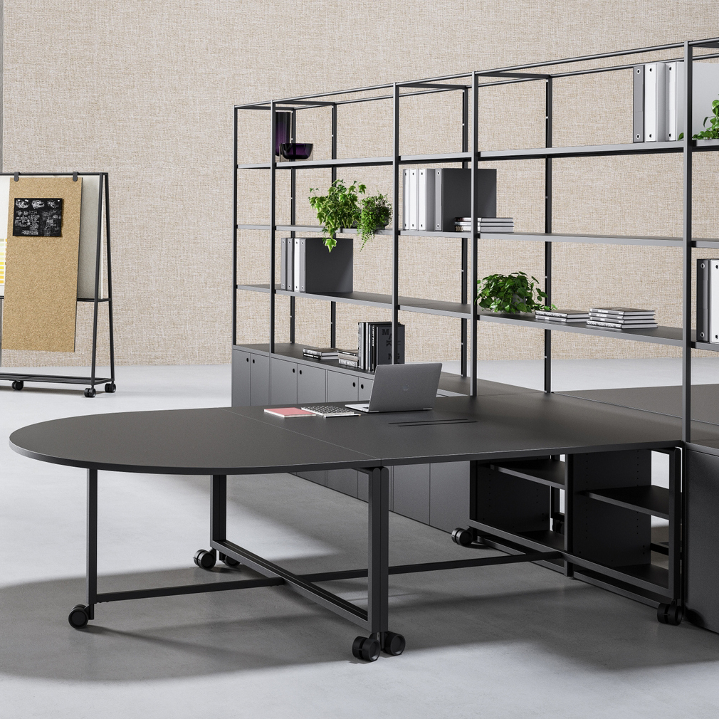 FANTONI ATELIER Office desk with shelves