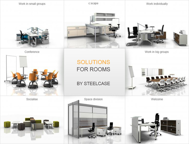 Steelcase Develops Complete Interior Design Solutions And Makes Its Typicals Available For Download Inspiration Architectural Services